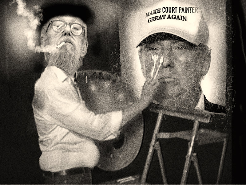court painter & the Donald
