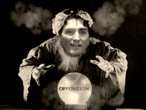 Fortuneteller and his crystal ball