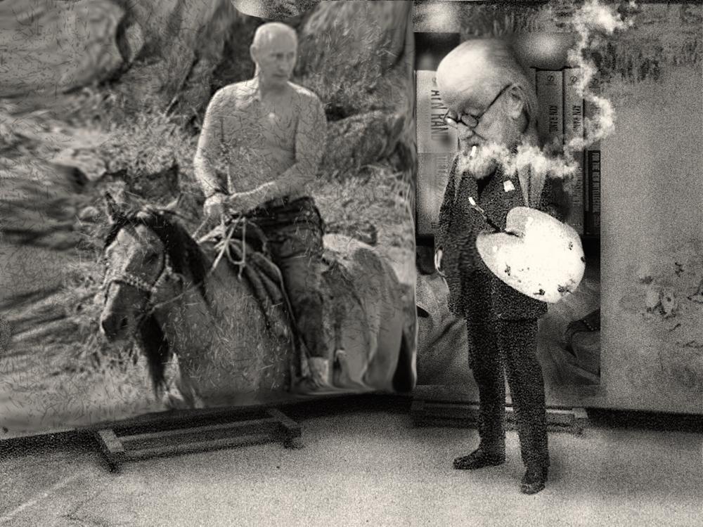 court-painter-putin-on-horse